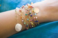 Raindrops necklace/ bracelet by jaunebleu