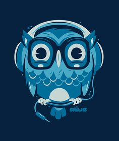 Minimalist Owl ~ Alive Illustrations by Christian Lindemann