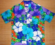 Pomare - 70s Hibiscus Floral Vintage Hawaiian Shirt