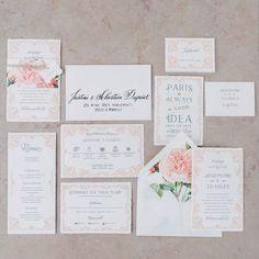 L´Amour Hochzeitspapeterie Bild: Schwede Photo Design Calligraphy: 101living #wedding invite #hochzeitseinladung #art nouveau #vintage