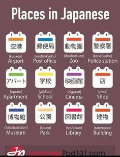 Places Japanese Language School, Japanese Language Lessons, Japanese Grammar, Japanese Phrases, Japanese Kanji, Learn Basic Japanese, Learning Japanese, Korean Language Tutorial, Hiragana