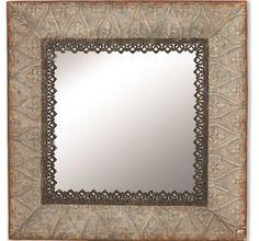 Tin Framed Wall Mirror Square Mirror Decorative Wall Mirror