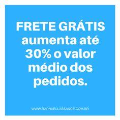 Frete Grátis aumenta até 30% o valor médio dos pedidos.  #fretegratis #blackfriday #ecommerce #comercioeletronico #lojavirtual #marketingdigital #digitalmarketing