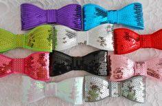 "Sequin bows 5"""
