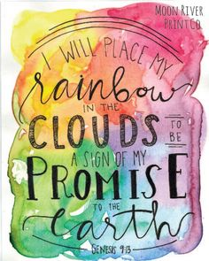 Moon River Print Co. Genesis 9:13