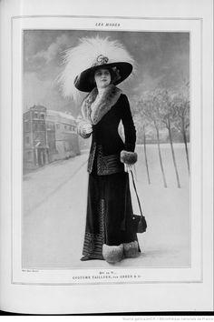 Les Modes : revue mensuelle illustrée des Arts décoratifs appliqués à la femme | 1910-11 | Gallica