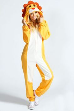 lily lion animal onesie at boohoocom my halloween costume gonna wear with uggs