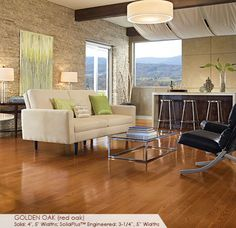 Somerset Floors | Color Plank Collection Golden Oak