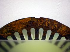 rust wheel in wax c-up 4 Weathered Paint, Assemblage Art, Hand Fan, Rust, Wax, Painting, Hand Fans, Painting Art, Paintings
