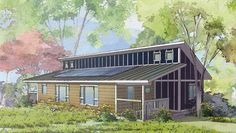 The Ridgeline model from the Renew Collection, by Deltec Homes #netzero #greenliving