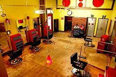 Barber shop set up - tool boxes