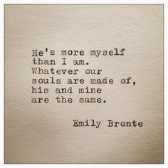 Emily Bronte Love Quote Typed On Typewriter by WhiteCellarDoor