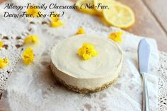 Healthy and delicious cheesecake suitable for all allergy types. Nut-free, gluten-free, soy-free, dairy-free, and egg-free.