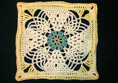 """Ravelry: Pineapple Expression 9""""/12"""" Afghan Block Square pattern by Margaret MacInnis ******SUBSTITUTION FOR BLOCK #12******"""