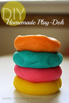home made playdoh .. on the agenda for today because my son has a school prjoect
