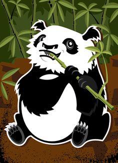 Panda vector illustration designed by Paul Howalt for Kono Magazine's endangered species series. #TactixCreative #panda #graphicdesign