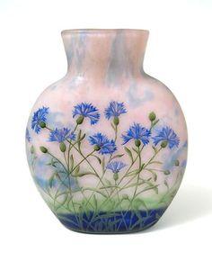 Daum Nancy, Cornflower Vase