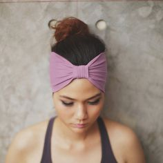 Lilac Top Knot headband