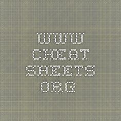 www.cheat-sheets.org -