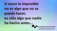 A veces lo imposible es sólo eso...