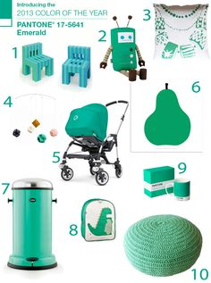 Pantone Color of the Year 2013 Emerald Green