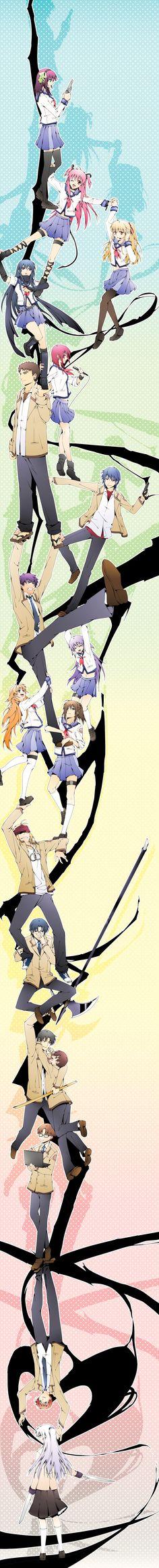 Trust me Durarara - Angel beats!... Otonashi, Hinata, Noda... This makes me sad for some reason...