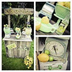 Vintage Lemon & Lime Birthday Party via @Kara's Party Ideas  // Party rentals, props and decorations- Mariah Rainier Style  Photography- Heather Lynn Photographie
