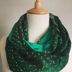 Emerald Green Sari Snood Green Sari, Sari Fabric, Emerald Green, Scarves, Silk, Fashion, Scarfs, Moda, Fashion Styles