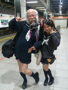 Meanwhile in Japan: Anything can be leashed and anyone can be a school girl