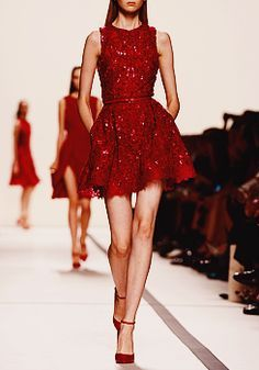 Elie Saab red cocktail dress for me! xoxox