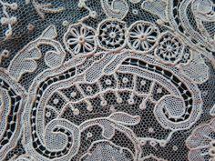 Fine Antique Handmade Point de Gaze Lace Flouncing 7 Feet x 6 1 2 Inches   eBay