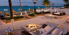 SANDALS Royal Bahamian... Imagine yourselves relaxing after a gourmet dinner in one of these lounge areas with your own firepit and gazing out to the ocean.  How romantic!  Contact me for details: ASPEN CREEK TRAVEL -   karen@aspencreektravel.com