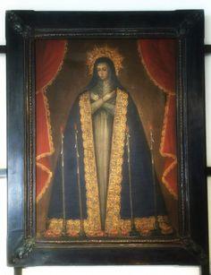 Escuela Cusqueña, Óleo sobre tela. Virgen de la Caridad, Perú S. XVIII-XIX  La encontraras en ArteS Galería   https://www.facebook.com/ArteSGaleriaAntiguedades/