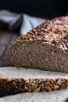 Seeded Whole Grain Breakfast Bread - Want to make like Farm to Market Bread Co Grains Galore with Whole wheat flour, wheat flour, honey, sunflower seed, oats, pumpkin seed, millet, wheat gluten, corn meal, buckwheat, flax seed, sesame seed, sea salt, soy flour, quinoa, poppy seed, amaranth, and yeast.