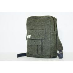 Kaarina backpack by Finnish brand Globe Hope, made out of recycled Swedish army winter coat.