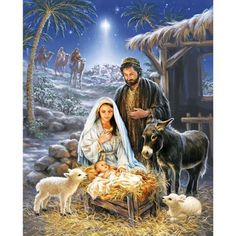 A Savior is Born Jigsaw Puzzle, 1000 pcs - Herrschners #nativity #christmas