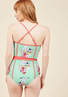 Need I Say Shore? One-Piece Swimsuit in Bouquets | ModCloth