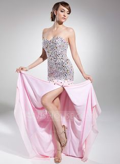 Prom Dresses - $186.99 - A-Line/Princess Sweetheart Sweep Train Chiffon Prom Dress With Beading Sequins (018014715) http://jjshouse.com/A-Line-Princess-Sweetheart-Sweep-Train-Chiffon-Prom-Dress-With-Beading-Sequins-018014715-g14715?ver=xdegc7h0