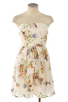 LOVING the pattern/fabric of this Tea in the Garden Dress on Ruched.