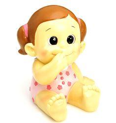 Figura tarta bautizo niña pelele rosa