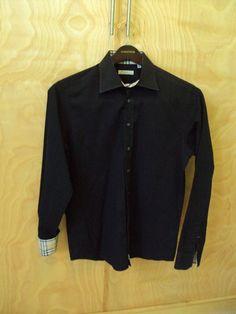 BURBERRY Authentic BURBERRY London Dress Shirt Black Long Sleeve Size M #Burberry #Polo