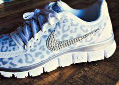 Women's Nike Free 5.0 v4 White/Wolf by HarrietHazelDesigns on Etsy