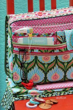 Geweldige tas gemaakt van de collectie Happy van Hamburger Liebe en Hilco suz-designerstoffen.nl