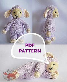 Amigurumi lamb amigurumi pattern PDF crochet by BubleCrable