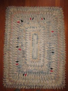 Deb Rowden's Thrift Shop Quilts: May 2012 pine bur rug