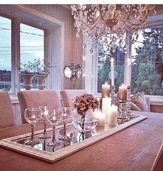 Cosy, chic and elegant dining room