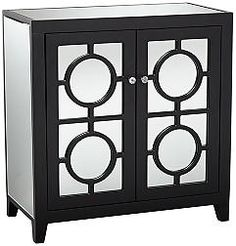 Jenyne Black Mirrored Accent Cabinet