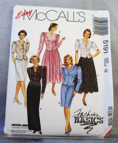 1991 Uncut  Easy McCall's Pattern 5191 by lovelylovepatterns, $4.00