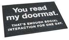 Inspiration: 24 funny doormats