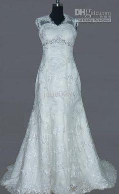 Wholesale 2012 Bernadette lace fishtail train Wedding Dresses wedding dress bridal gown HS010, Free shipping, $109.0-155.25/Piece | DHgate